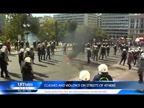 Clashes and violence on streets of Athens