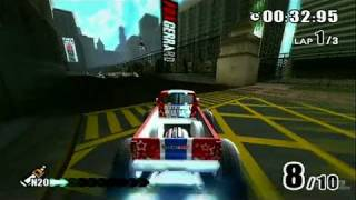 Monster 4x4: Stunt Racer Nintendo Wii Gameplay - Race