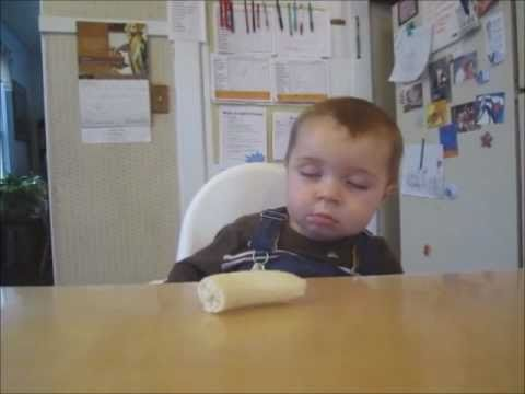 Baby Eats Banana Sleeping is listed (or ranked) 9 on the list 13 Funny and Cute Baby Videos