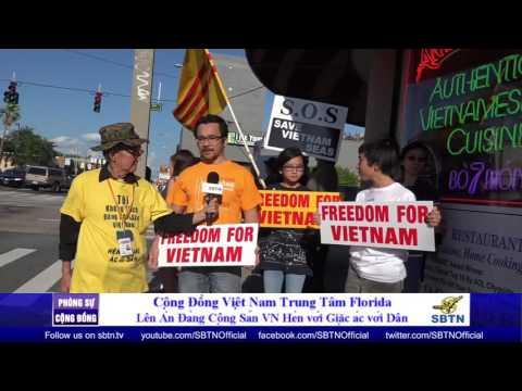 PHÓNG SỰ CỘNG ĐỒNG: Cộng đồng Việt Nam Orlando, Florida biểu tình lên án sự hèn hạ của CSVN