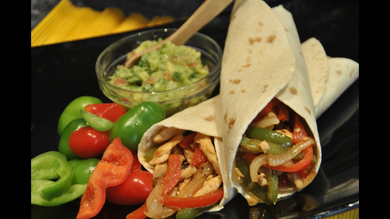 Fajitas de pollo Mexicanas  YouTube