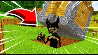 Minecraft : I FOUND INK BENDY DEMON Hiding Under THIS VILLAGE! (Ps3/Xbox360/PS4/XboxOne/PE/MCPE)
