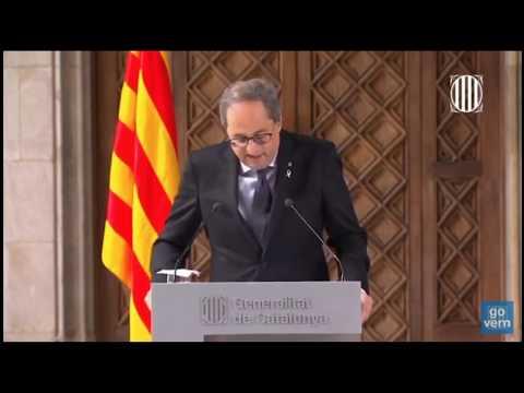 DIRECTO: Declaración institucional de Torra