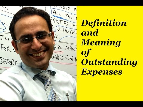 Basic Accounting Terms (Video-9) What is  Outstanding Expense?