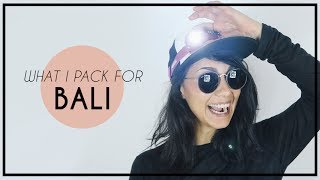 WHAT I PACK FOR BALI | stop motion | Coline