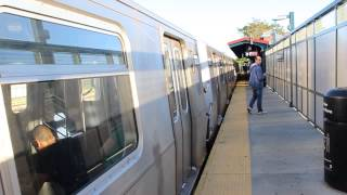 NYC Subway: (Q) and Yankee Special trains action at Neck Rd (Weekend)
