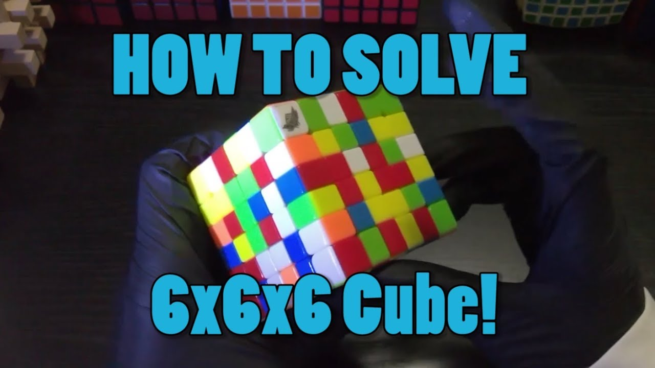 How to Solve a 6x6x6 Rubik's Cube (Including Parity!)