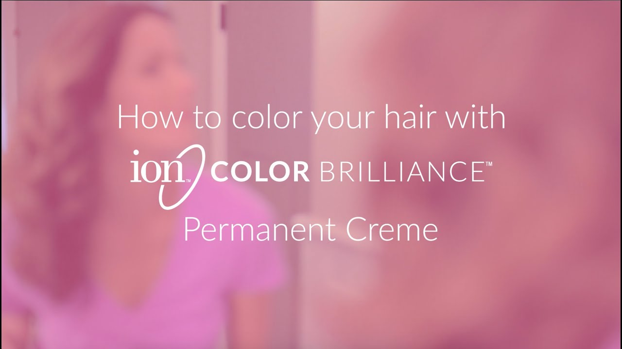 Ion color brilliance permanent hair also youtube rh