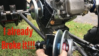 building the long travel full independent suspension dual engine go kart part 4