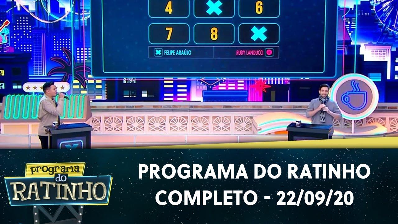 Programa do Ratinho - Completo  | Programa do Ratinho (22/09/20)