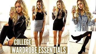 10 COLLEGE / UNIVERSITY WARDROBE ESSENTIALS 2017
