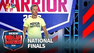 Geoff Britten at the National Finals: Stage 1 - American Ninja Warrior 2016