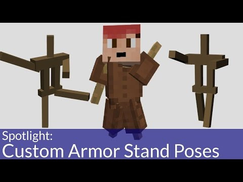 How To Make Armor Stands Strike A Pose In Minecraft