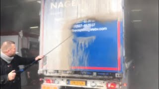AMAZING! Non Contact DAF Truck Wash, JUST WATCH! No brushes or sponges needed, ProNano HQ Washing