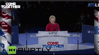 live hillary clinton to speak at aipac conference