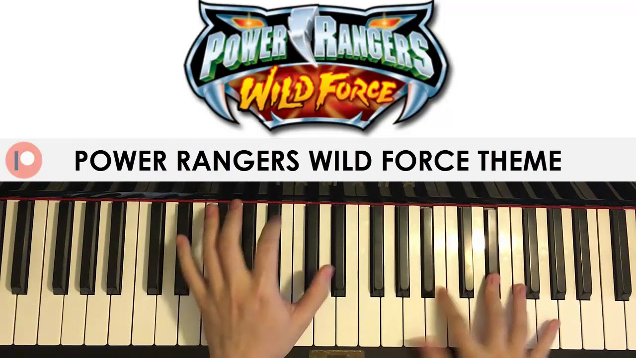 Power Rangers Wild Force Theme Song (Piano Cover) | Patreon Dedication #217  by Amosdoll Music