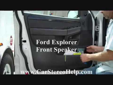 Ford Explorer Front Door Speaker Removal