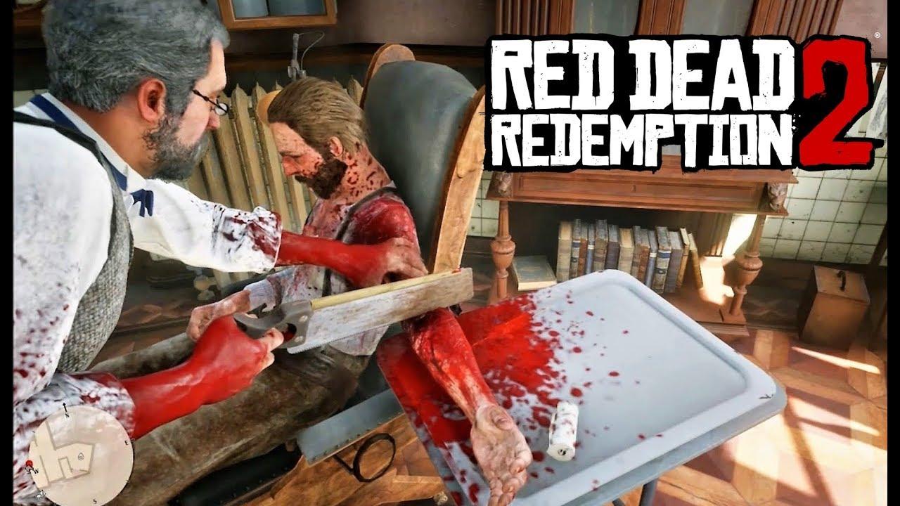 OMG! Médico Amputa un brazo en RED DEAD REDEMPTION 2   El Juego MÁS CIENSOSO del mundo