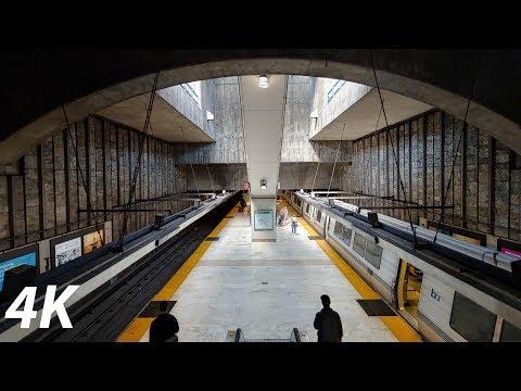 ⁴ᴷ⁶⁰ BART: Legacy Trains Arriving And Departing Glen Park