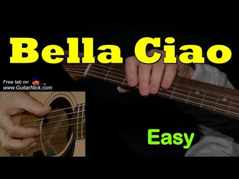 BELLA CIAO: Easy Guitar Lesson + TAB by GuitarNick
