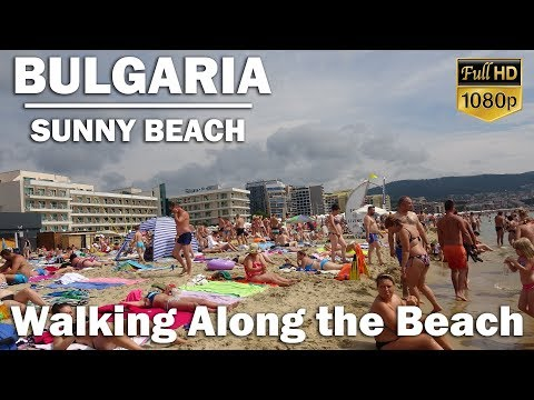 A walk along the beautiful Sunny Beach (Slanchev Bryag) in Bulgaria
