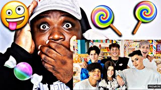 We Took Over A Candy Store For The Day | Charli D'Amelio (REACTION) Larray , James Charles & Chase