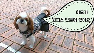 강아지 원피스 만들기 / DIY Puppy Dress