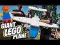 Giant Flying R/C Lego Plane