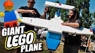 giant flying r c lego plane