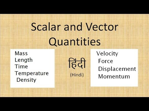 Scalar and Vector quantities IN HINDI