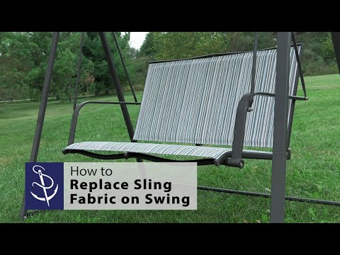 Sling Fabric On A 2 Person Swing