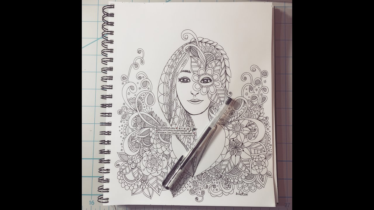 Famous Face Zentangle Doodles