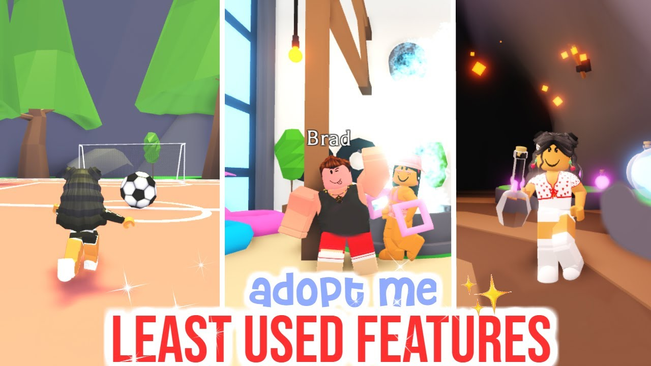Top 10 LEAST USED FEATURES In Adopt Me!!! | SunsetSafari