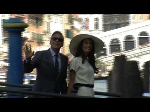 Mariage civil à Venise pour George Clooney et Amal Alamuddin
