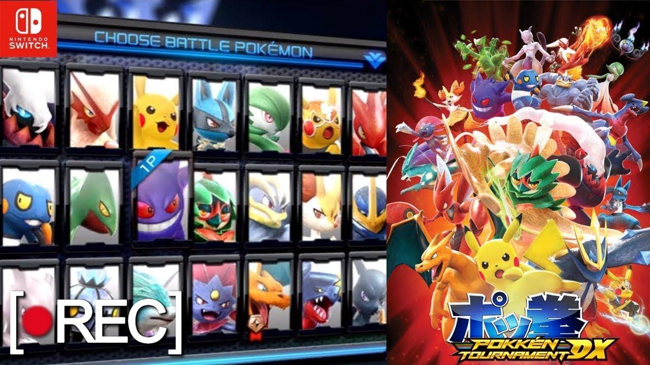Probando Los Personajes De Pokken Tournament Dx Para Nintendo