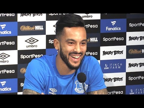 Theo Walcott First Full Press Conference After Signing For Everton