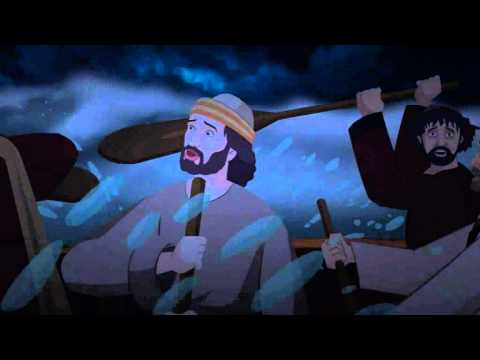 Bible stories for children  - Jesus Walks on water ( English Cartoon Animation )