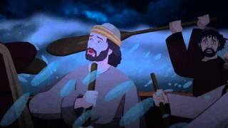 Bibel-Geschichten für Kinder - Jesus geht auf dem Wasser ( Deutsch Zeichentrick )