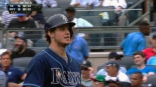 Myers goes deep twice, drives in four
