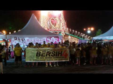 Bersih 4 rally at Auto City , Penang