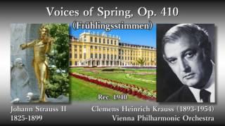 """J. Strauss II: """"Voices of Spring"""", Krauss & VPO (1940) ヨハン・シュトラウス2世 春の声 クラウス"""