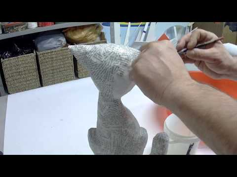 How To Make A Paper Mache Cat (simple And Quick To Do)