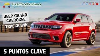 Jeep Grand Cherokee Trackhawk en Colombia: 🔥 ¡el SUV más potente en 5 puntos clave! 🔥