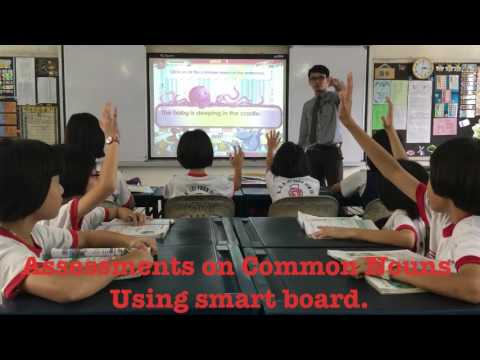 Smart board teaching Common Nouns and Proper Nouns