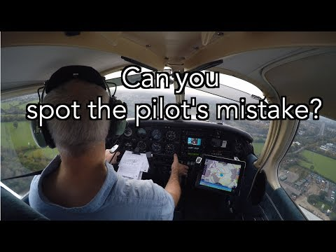 Can you spot the pilot's mistake on take off?