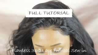 How to: Flawless 360 Lace Frontal Sew in Install | No Glue!