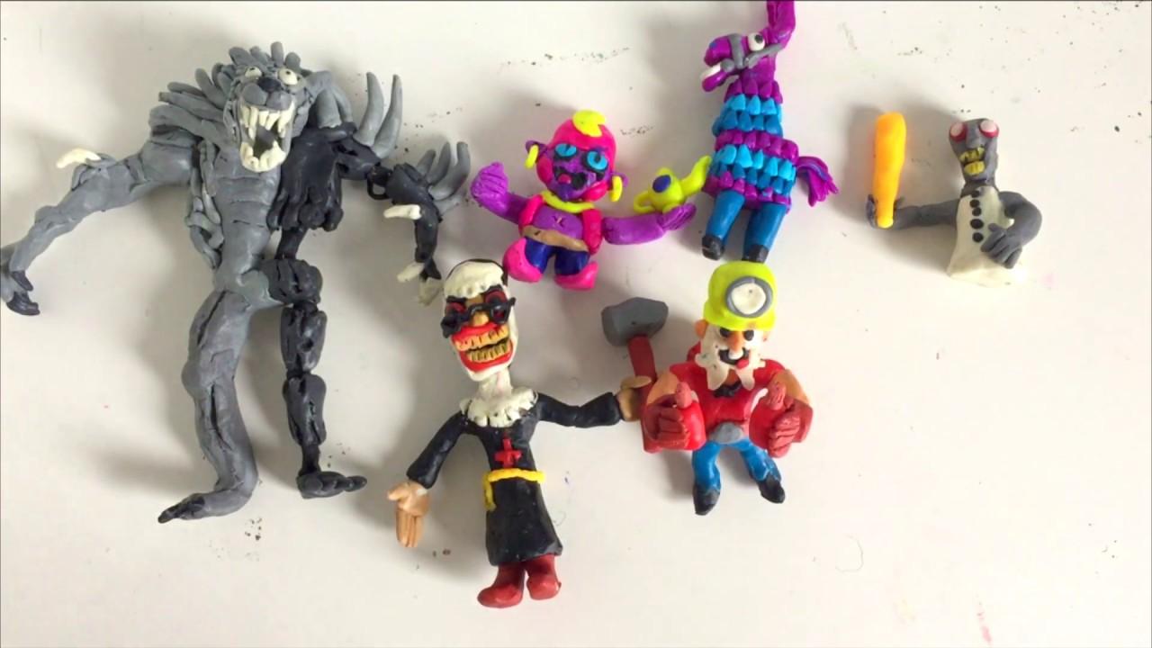 Персонажи игр из пластилина