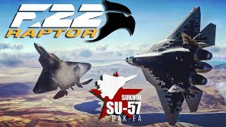 DCS: F-22 Raptor Mod Vs Su-57 Mod Dogfight