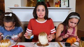DIY GliTTer Pumpkins! (Haschak Sisters)