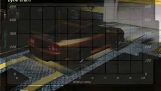 NFSU2 240sx dyno tuning test drag run.